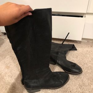 Joe's Jeans Black leather boots (real leather)